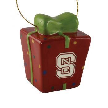 North Carolina State University-3D Ceramic Gift Box Ornament