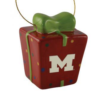 University of Michigan-3D Ceramic Gift Box Ornament
