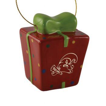 Tulane University-3D Ceramic Gift Box Ornament