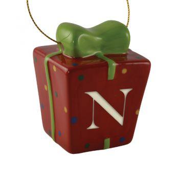 Northeastern University-3D Ceramic Gift Box Ornament
