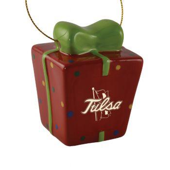University of Tulsa-3D Ceramic Gift Box Ornament
