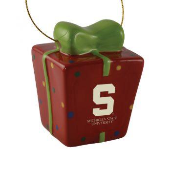 Michigan State University-3D Ceramic Gift Box Ornament