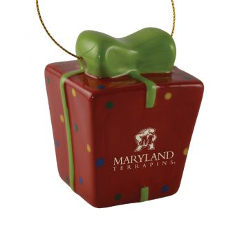 University of Maryland-3D Ceramic Gift Box Ornament