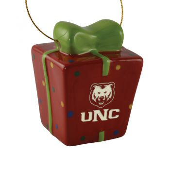 University of Northern Colorado-3D Ceramic Gift Box Ornament