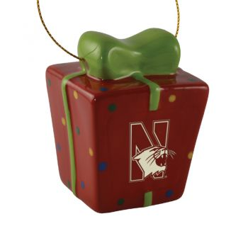 Northwestern University-3D Ceramic Gift Box Ornament