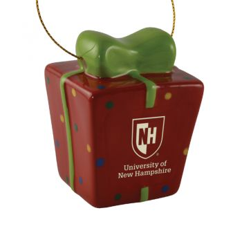 University of New Hampshire-3D Ceramic Gift Box Ornament