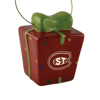 St. Cloud State University-3D Ceramic Gift Box Ornament