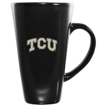 Texas Christian University -16 oz. Tall Ceramic Coffee Mug-Black
