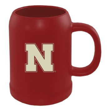 University of Nebraska-22 oz. Ceramic Stein Coffee Mug-Red