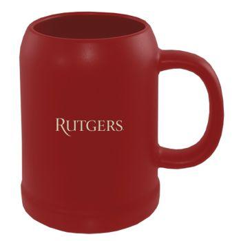Rutgers University -22 oz. Ceramic Stein Coffee Mug-Red