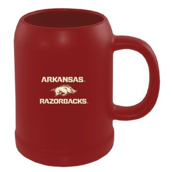 University of Arkansas-22 oz. Ceramic Stein Coffee Mug-Red