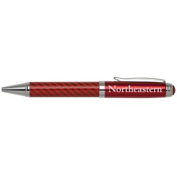 Northeastern University -Carbon Fiber Ballpoint Pen-Red