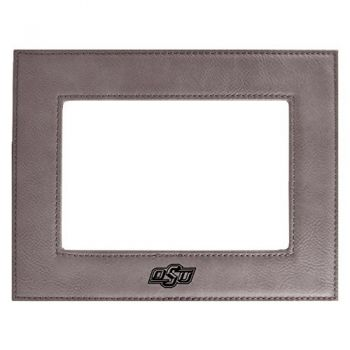 Oklahoma State University-Velour Picture Frame 4x6-Grey