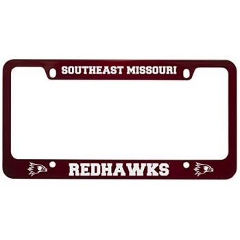 Southeast Missouri State University -Metal License Plate Frame-Red