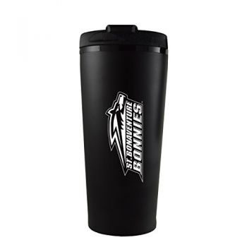 St. Bonaventure Bonnies -16 oz. Travel Mug Tumbler-Black