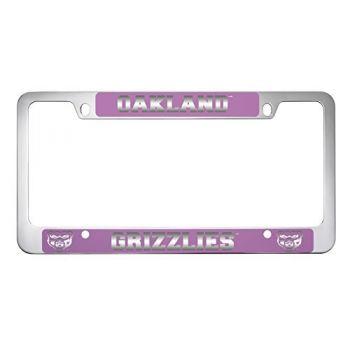 Oakland University -Metal License Plate Frame-Pink