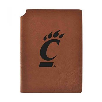 University of Cincinnati Velour Journal with Pen Holder|Carbon Etched|Officially Licensed Collegiate Journal|