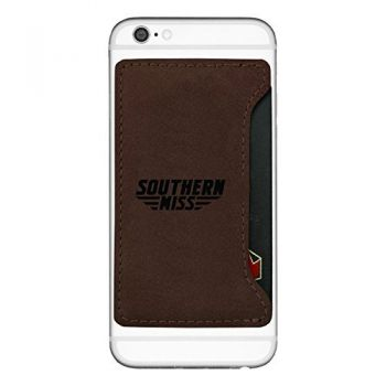 University of Southern Mississippi-Cell Phone Card Holder-Brown