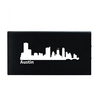 Austin, Texas-8000 mAh Portable Cell Phone Charger-Black