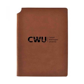 Central Washington University Velour Journal with Pen Holder|Carbon Etched|Officially Licensed Collegiate Journal|