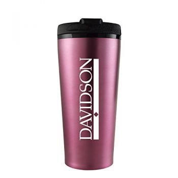Davidson College-16 oz. Travel Mug Tumbler-Pink