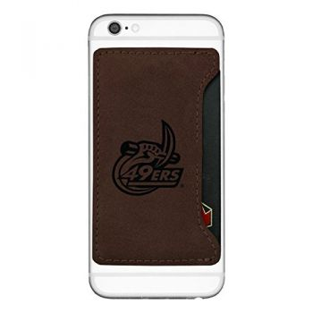 University of North Carolina at Charlotte-Cell Phone Card Holder-Brown