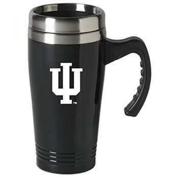 Indiana University-16 oz. Stainless Steel Mug-Black