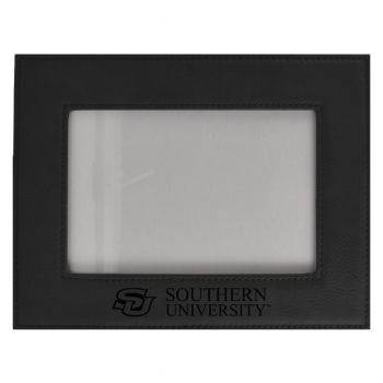 Southern University-Velour Picture Frame 4x6-Black