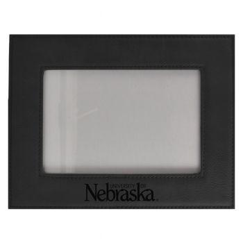 University of Nebraska-Velour Picture Frame 4x6-Black
