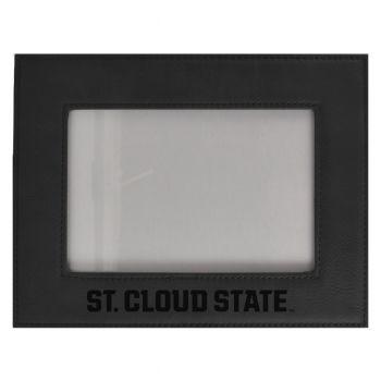 St. Cloud State University-Velour Picture Frame 4x6-Black