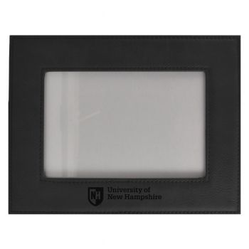 University of New Hampshire-Velour Picture Frame 4x6-Black