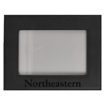 Northeastern University-Velour Picture Frame 4x6-Black