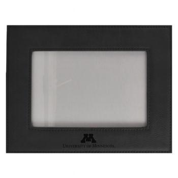 University of Minnesota-Velour Picture Frame 4x6-Black