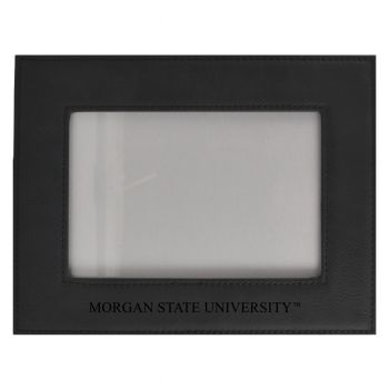 Morgan State University-Velour Picture Frame 4x6-Black