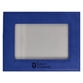 Tulane University-Velour Picture Frame 4x6-Blue