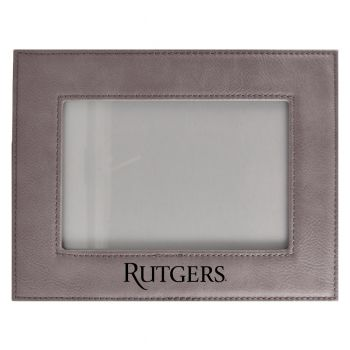 Rutgers University-Velour Picture Frame 4x6-Grey