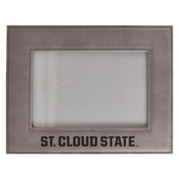 St. Cloud State University-Velour Picture Frame 4x6-Grey