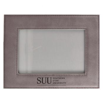 Southern Utah University-Velour Picture Frame 4x6-Grey