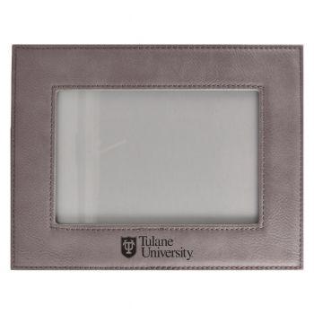 Tulane University-Velour Picture Frame 4x6-Grey