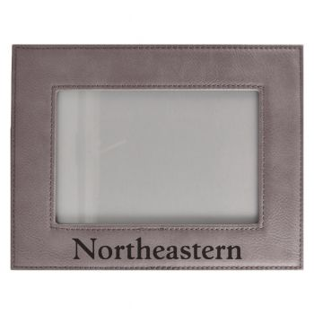 Northeastern University-Velour Picture Frame 4x6-Grey