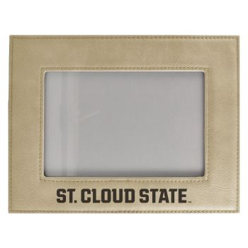 St. Cloud State University-Velour Picture Frame 4x6-Tan