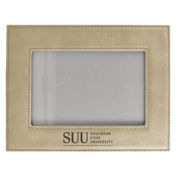 Southern Utah University-Velour Picture Frame 4x6-Tan