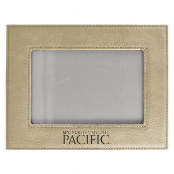 University of The Pacific-Velour Picture Frame 4x6-Tan
