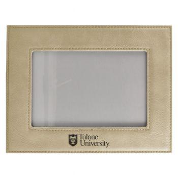 Tulane University-Velour Picture Frame 4x6-Tan