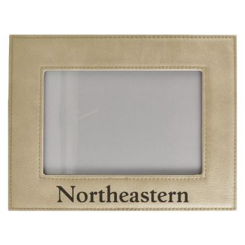 Northeastern University-Velour Picture Frame 4x6-Tan