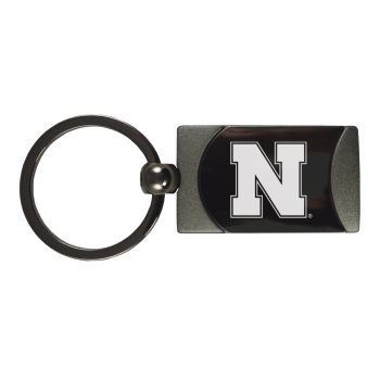 University of Nebraska-Two-Toned Gun Metal Key Tag-Gunmetal