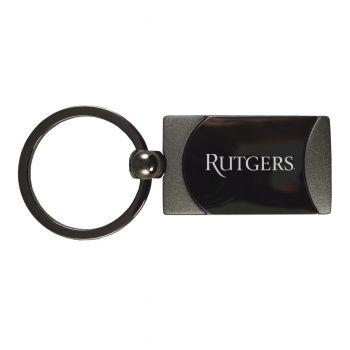Rutgers University -Two-Toned Gun Metal Key Tag-Gunmetal