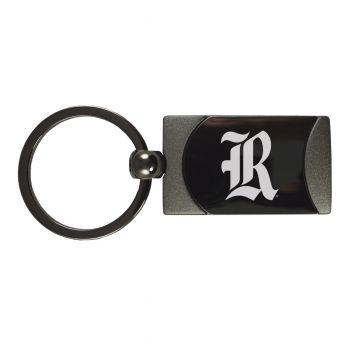 Rice University -Two-Toned gunmetal Key Tag-Gunmetal