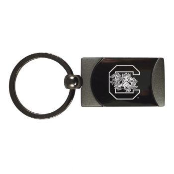 University of South Carolina -Two-Toned Gun Metal Key Tag-Gunmetal