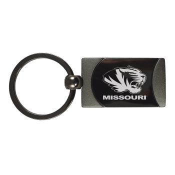 University of Missouri -Two-Toned Gun Metal Key Tag-Gunmetal
